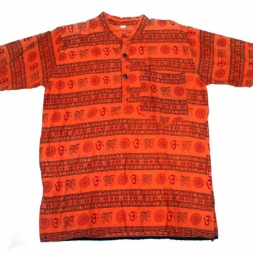 Cotton Kurta- Orange